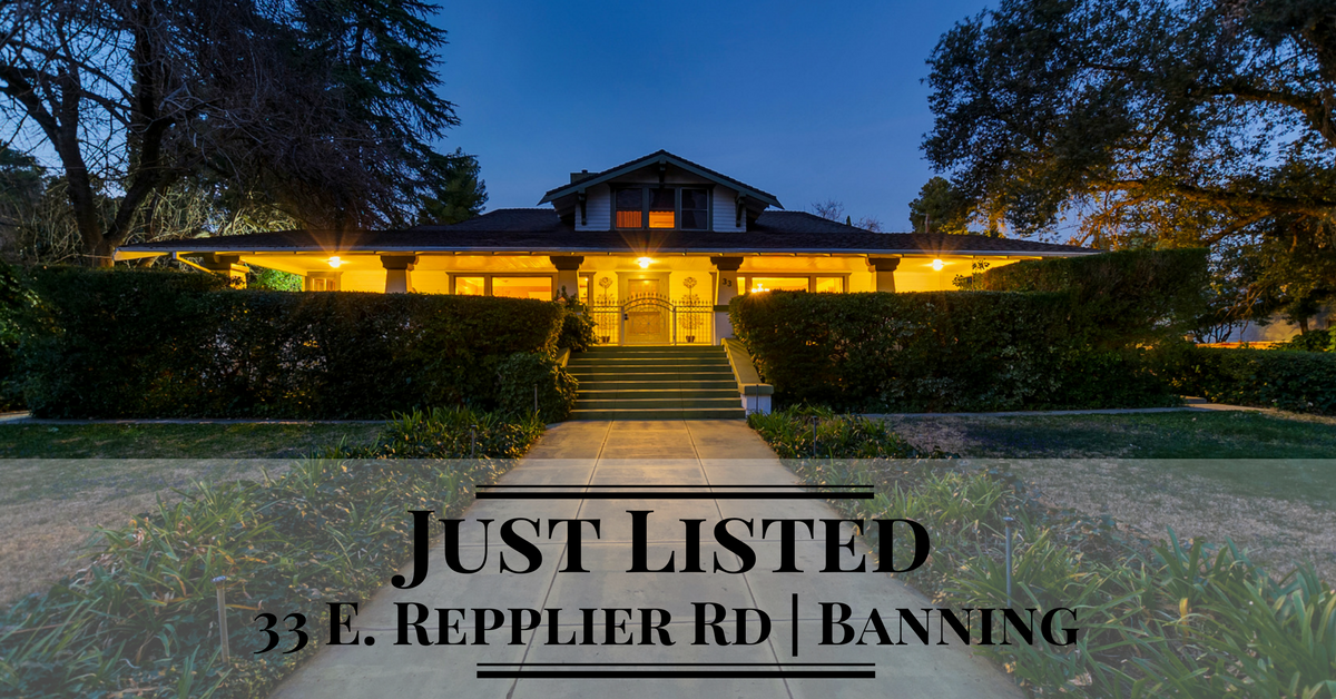 33 E Repplier Rd, Banning, CA 92220 - Inland Empire real estate just listed by Thomas Jackson, Keller Williams Realty associate broker
